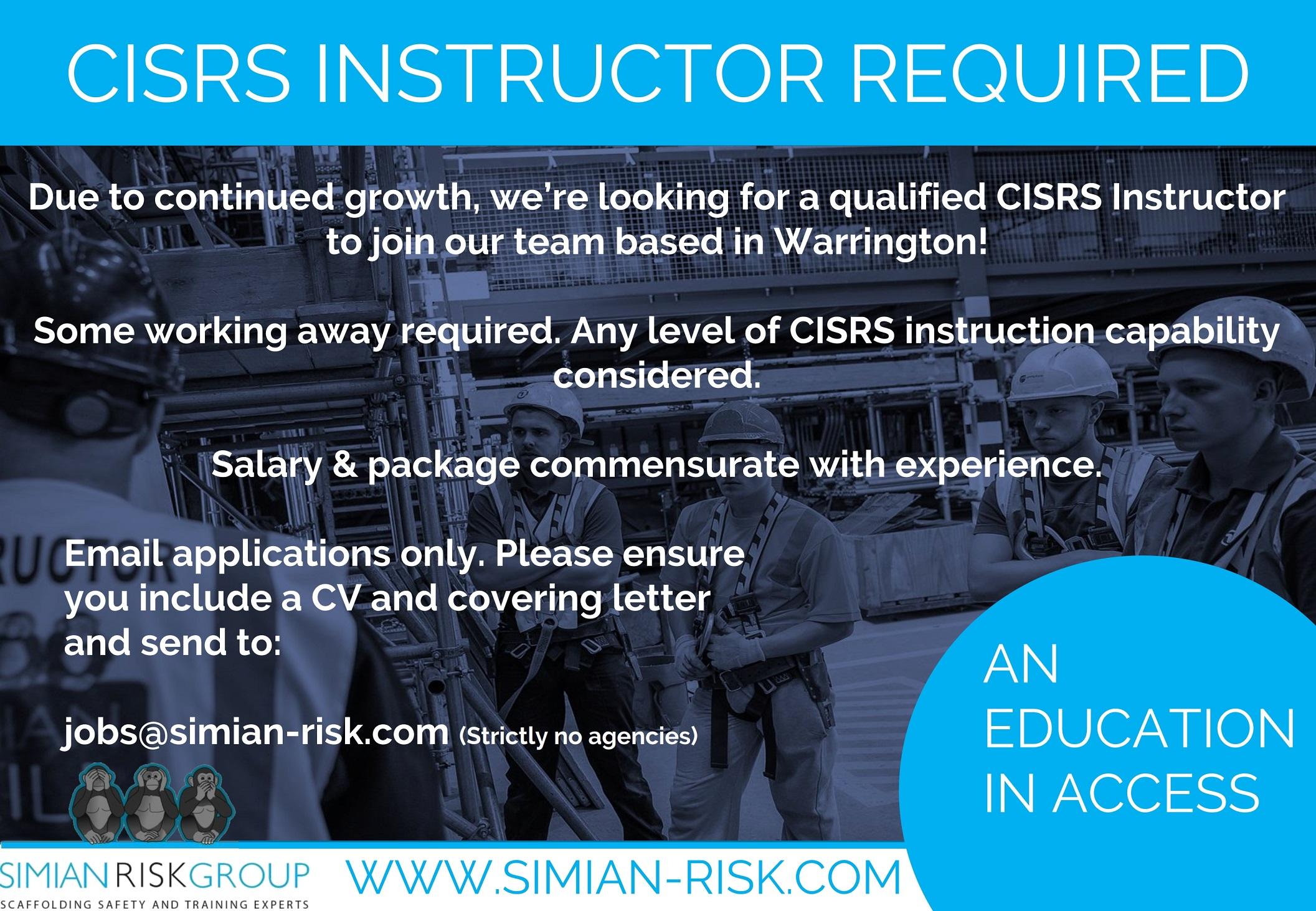 CISRS instructor vacancy