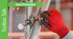 hand protection when working on scaffolding