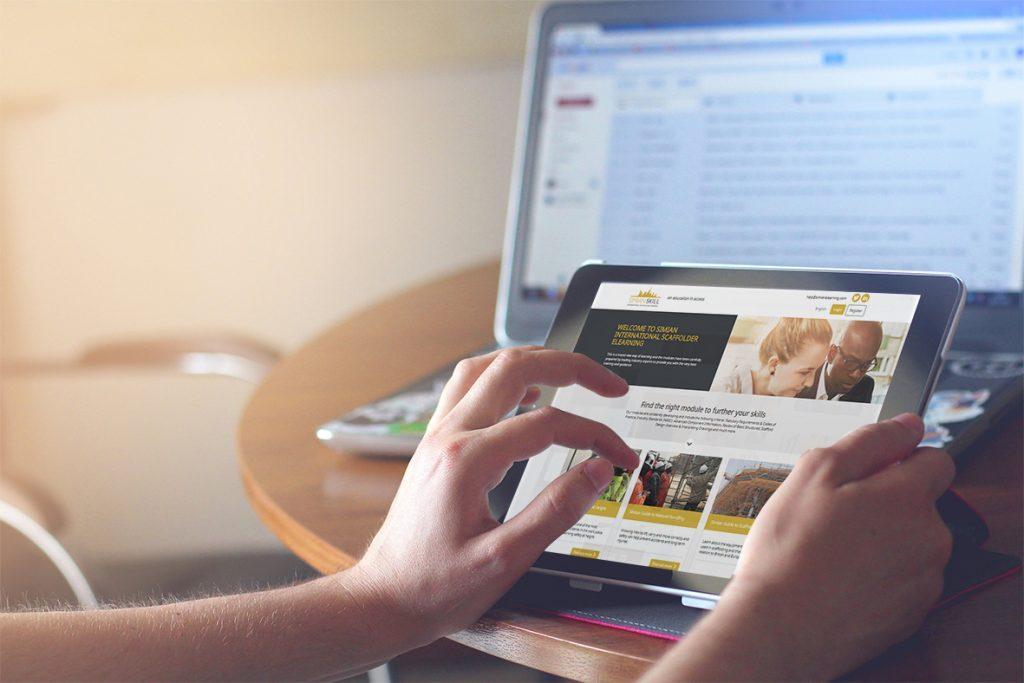 Scaffolding e-learning website