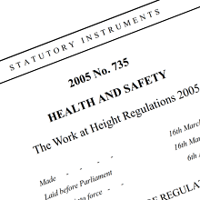 Work at height regulations