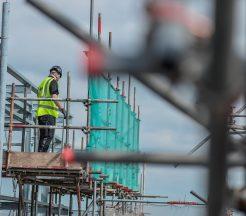 Scaffolding worker