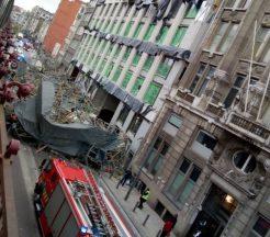 Scaffold collapse in Belgium