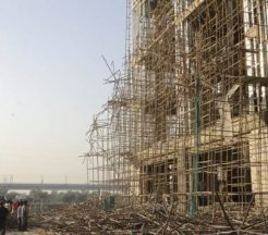 Scaffold collapse in India