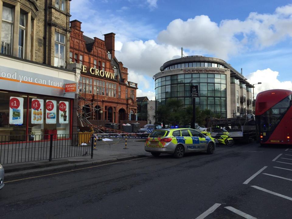 scaffolding fatality in london