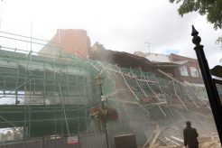 Roof collapse in Nuneaton
