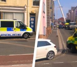 Scaffolding incident Plymouth